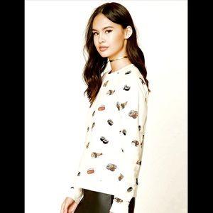 Sushi Print Sweatshirt